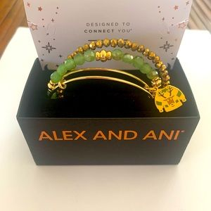New Set of 3 Alex & Ani Ugly Reindeer Sweater Holiday Bangle Bracelets 🦌🎄